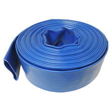 Blue Reinforced PVC flexible Lay-Flat Water Discharge Hose